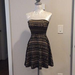Strapless stretch mini dress